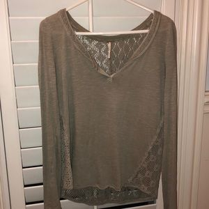 Free people cut out Longsleeve top